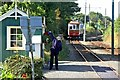 SC4281 : Manx Electric Railway, Baldrine Station by Alan Murray-Rust