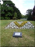 TQ4387 : Commemorative plaque and planting, Valentines Park, Ilford by David Smith