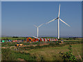SD4259 : Walney Extension wind farm construction site by Ian Taylor