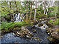 NH3338 : Confluence and waterfall on the Allt Coire Coille Leacainn by valenta