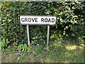 TL9971 : Grove Road sign by Adrian Cable