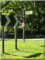TM0070 : Roadsigns on Badwell Road by Adrian Cable