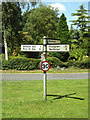 TM0070 : Roadsign on Badwell Road by Adrian Cable