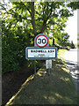 TL9969 : Badwell Ash Village Name sign on The Street by Adrian Cable