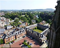 SO5139 : View from Hereford Cathedral Tower by Russel Wills