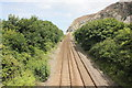 SH7378 : The North Wales Coast Line approaching Penmaen-bach Point by Jeff Buck