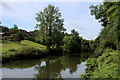 TQ7353 : River Medway Downstream of East Farleigh by Chris Heaton