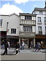 SX9292 : Elizabethan house-front, Thornton's shop, Exeter High Street by David Smith