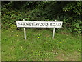 TQ4065 : Barnet Wood Road sign by Adrian Cable