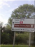 SK4547 : UK Directions Sign by Gary