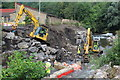 SO2001 : Bridge construction work, River Ebbw, Aberbeeg by M J Roscoe