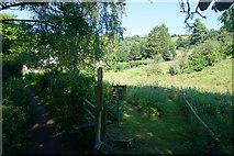 ST7693 : Path by Holywell Leaze by Bill Boaden