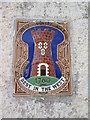 SO6713 : West  Country  Ales  ceramic  plaque  Littledean by Martin Dawes