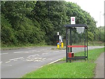 NZ2568 : Bus stops on Salters Lane by Graham Robson