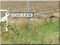 TM0888 : Long Lane sign by Adrian Cable