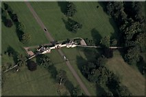 SE2869 : Entrance Gate, Studley Royal Park: aerial 2016 by Chris