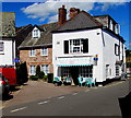 SX9884 : Oh Sew in the former Lympstone Post Office by Jaggery