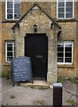 SP1729 : Entrance & noticeboard at the former Coach & Horses, Ganborough, Glos by P L Chadwick