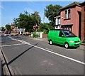 SU4313 : Vivid green van in  St Denys, Southampton by Jaggery