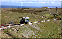 SH7783 : Great Orme tramway crossing point by Robert Eva