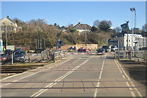 SX9193 : Station Road Level Crossing by N Chadwick