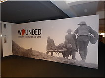 """TQ2679 : Science Museum """"Wounded"""" exhibition (1) by Basher Eyre"""