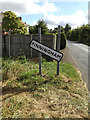TM0470 : Finningham Village Name sign on Finningham Road by Adrian Cable
