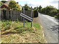 TM0470 : Finningham village name sign on the parish boundary by Adrian Cable