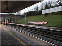 SP3378 : London Midland train arriving at Coventry railway station by Andrew Abbott