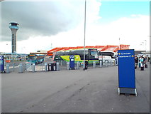 TL1121 : Coach station at Luton Airport by Malc McDonald