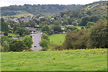 SK2375 : Looking down on Calver Sough from Knouchley Farm by David Martin