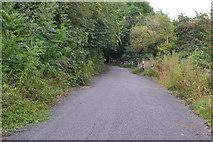 SK2376 : Closed road by David Martin