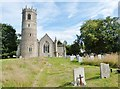 TM0375 : The Western end of St. Mary's church, Rickinghall Inferior, Suffolk by Derek Voller