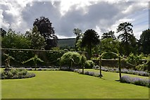 NJ1736 : Ballindalloch Castle: The north east corner of the Rose Garden by Michael Garlick