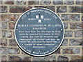 NZ2464 : Plaque re Robert Stephenson, 5 Greenfield Place, NE4 by Mike Quinn