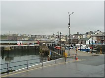SC2484 : Footbridge starting to open, Peel Harbour by Christine Johnstone