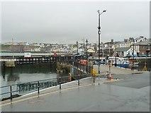 SC2484 : Footbridge almost open, Peel Harbour by Christine Johnstone