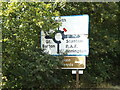 TL9370 : Roadsign on the A1088 Stow Lane by Adrian Cable