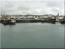 SC2484 : Trawler PL40 about to enter Peel inner harbour by Christine Johnstone