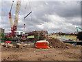 SJ8297 : Installation of Ordsall Chord Footbridge, September 2016 by David Dixon