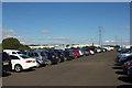 NZ2984 : Temporary Car Park for the Blyth Tall Ships Regatta by Mark Anderson