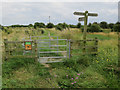 TQ7684 : Path into West Canvey Marsh by Hugh Venables