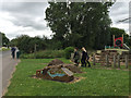 SP3682 : Walking past Bell Green play area, near Roseberry Avenue, north Coventry by Robin Stott