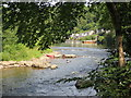 SO5515 : Island  and  rapids  in  River  Wye by Martin Dawes
