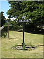 TL9568 : Stowlangtoft Village sign by Adrian Cable