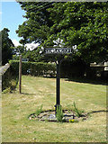 TL9568 : Stowlangtoft Village sign by Geographer