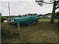 TG0143 : Boat storage, Blakeney by Hugh Venables