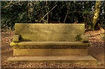 SP5606 : A stone bench in Shotover Country Park by Steve Daniels