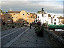 NZ2742 : Durham: on Framwellgate Bridge by John Sutton