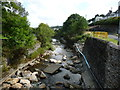 SC4385 : Laxey River, full of rubble by Christine Johnstone